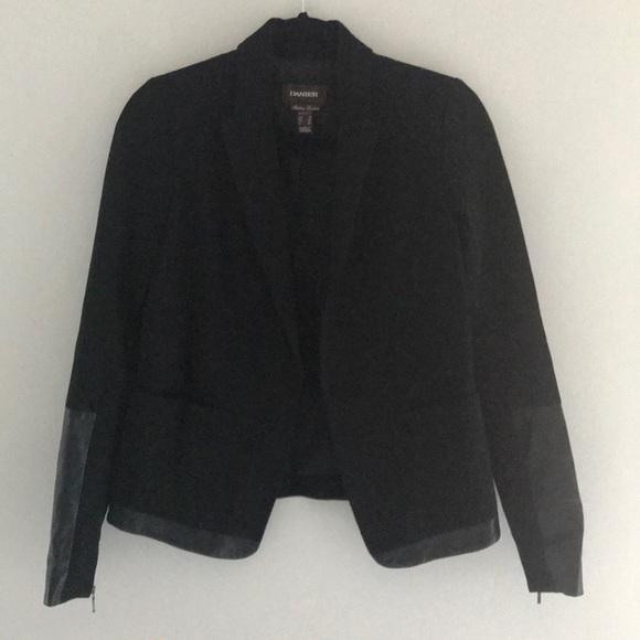 Danier leather trimmed blazer